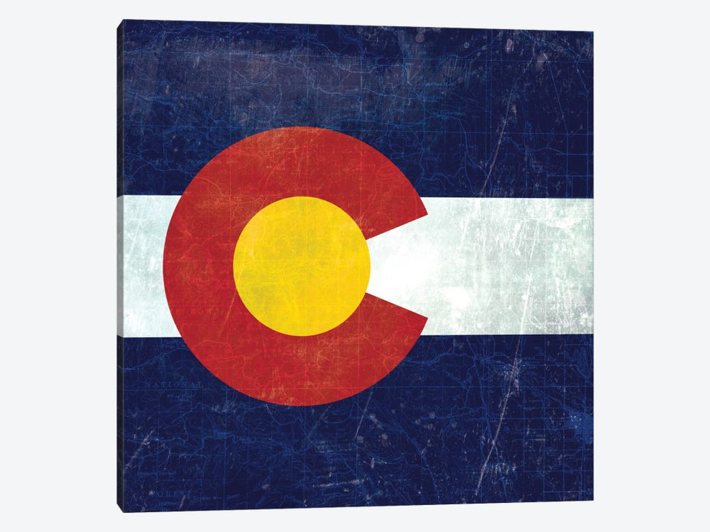 Colorado (Vintage Map) 1-piece Canvas Artwork