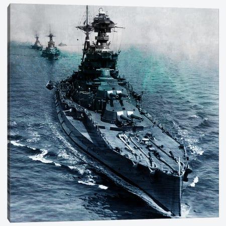 WWII Era Destroyer Fleet I Canvas Print #FLG471} by iCanvas Canvas Print