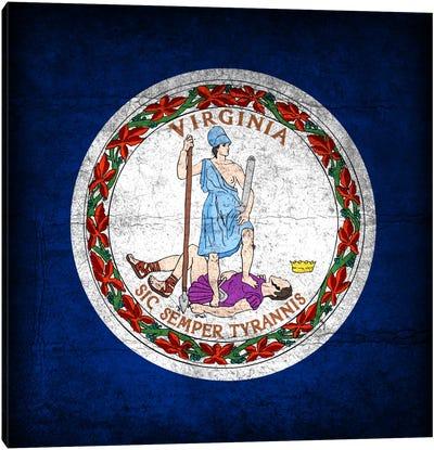 State Flag Grunge Series: Virginia Canvas Print #FLG477