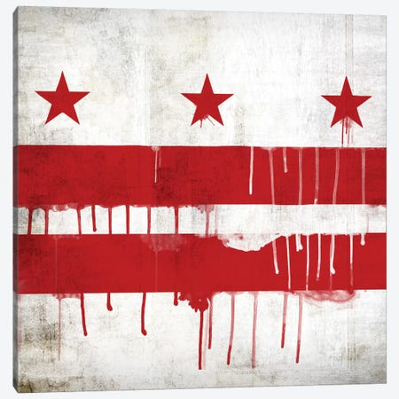 Washington, D.C. Paint Drip City Flag Canvas Print #FLG488} by iCanvas Canvas Art