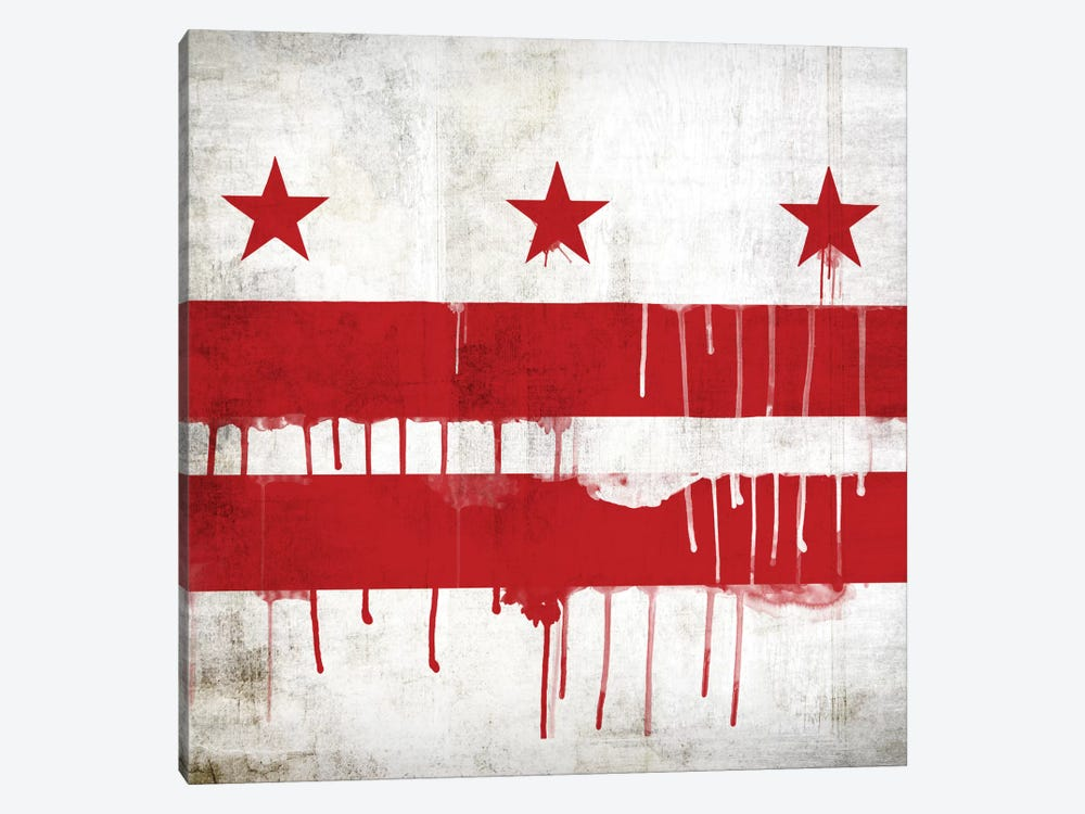 Washington, D.C. Paint Drip City Flag by iCanvas 1-piece Canvas Art Print
