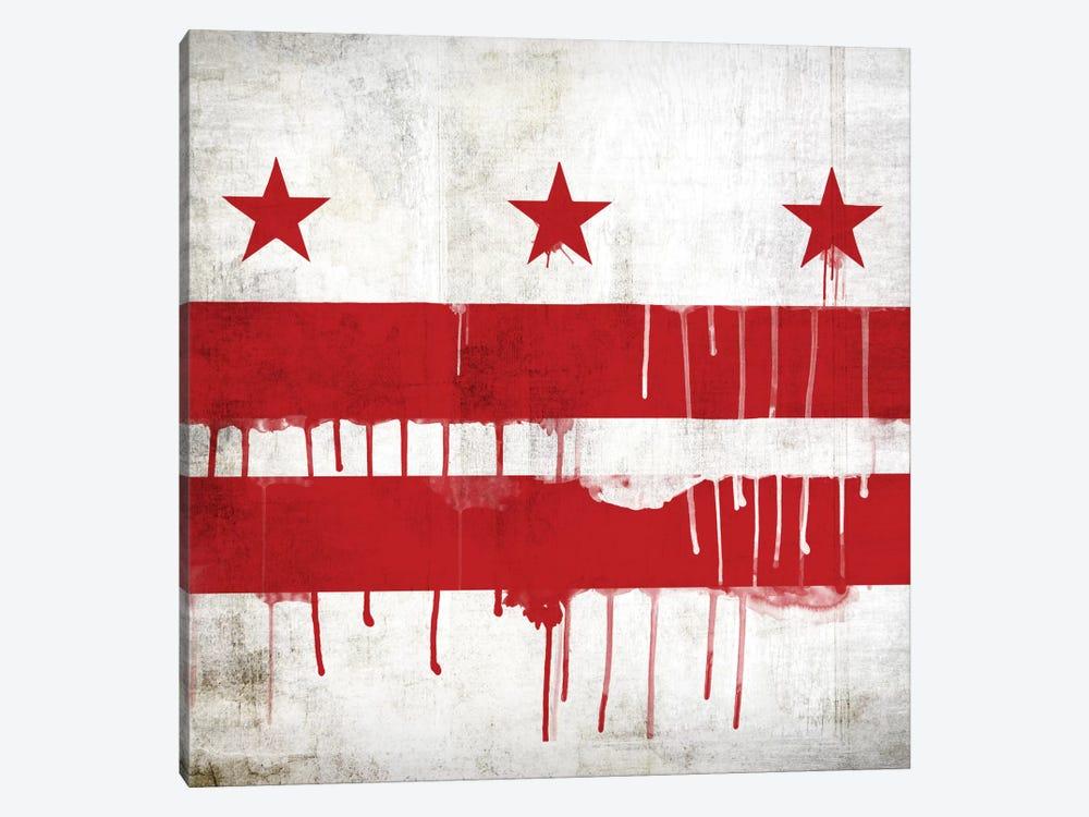 Washington, D.C. Paint Drip City Flag by iCanvas 1-piece Canvas Art Print