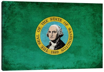 State Flag Grunge Series: Washington I Canvas Art Print