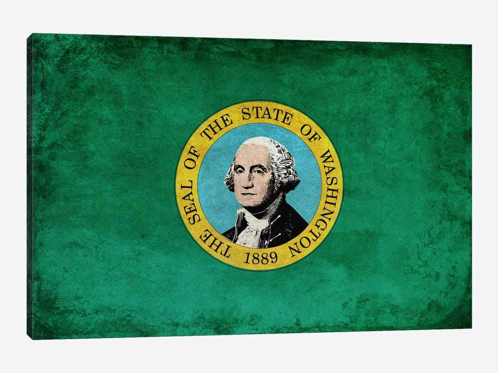 State Flag Grunge Series: Washington I by iCanvas 1-piece Canvas Artwork