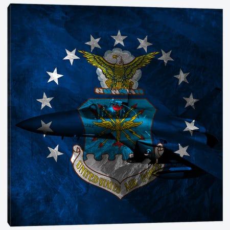 U.S. Air Force Flag (F-15 Eagle Background) Canvas Print #FLG4} by iCanvas Canvas Art Print