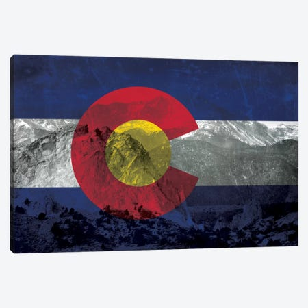 State Flag Overlay Series: Colorado (Pikes Peak) Canvas Print #FLG51} by iCanvas Canvas Art Print