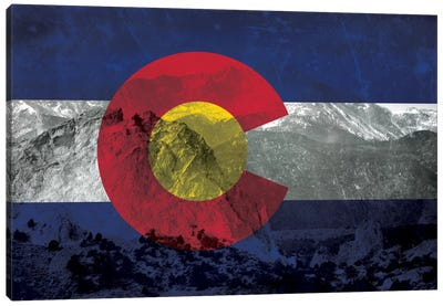 State Flag Overlay Series: Colorado (Pikes Peak) Canvas Art Print