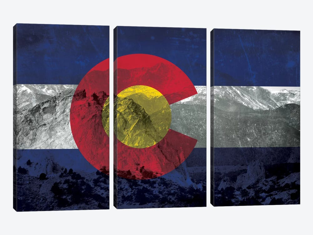 Colorado (Pikes Peak) by iCanvas 3-piece Canvas Wall Art