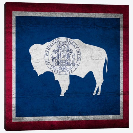 Wyoming Cracked Paint State Flag Canvas Print #FLG523} by iCanvas Canvas Print