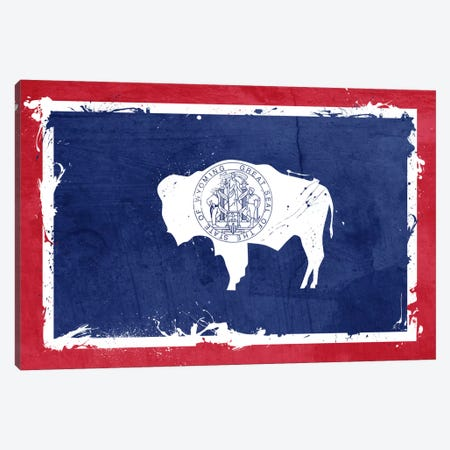 Wyoming Fresh Paint State Flag Canvas Print #FLG528} by iCanvas Canvas Print
