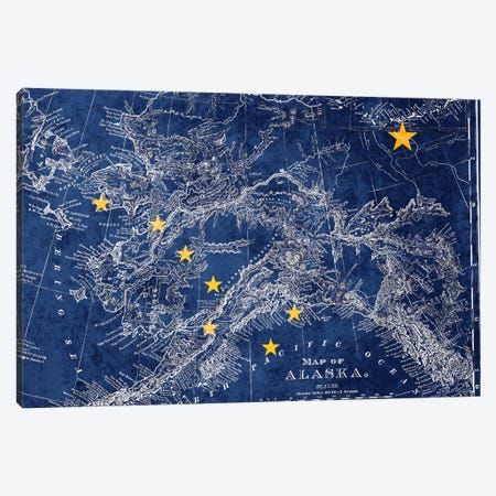 Alaska (Vintage Map) II Canvas Print #FLG540} by iCanvas Canvas Print