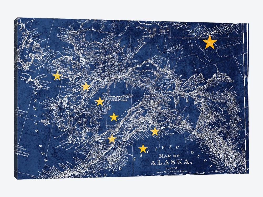Alaska (Vintage Map) II by iCanvas 1-piece Canvas Wall Art