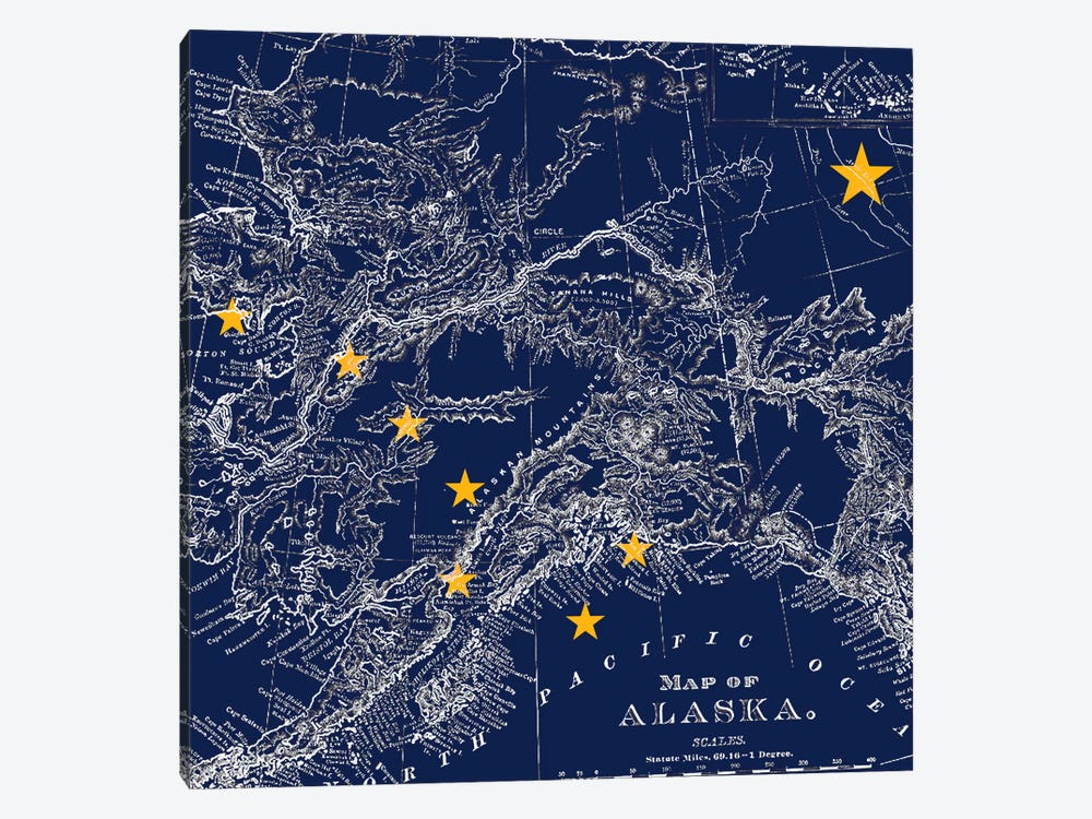 Alaska (Vintage Map) I by iCanvas 1-piece Art Print