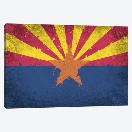Arizona Fresh Paint State Flag Canvas Print #FLG545} by iCanvas Canvas Artwork