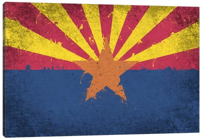 Arizona Fresh Paint State Flag Canvas Print #FLG545