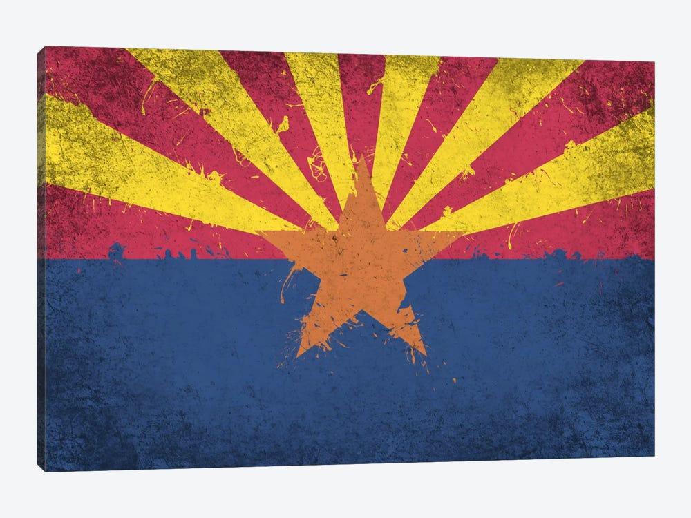 Arizona Fresh Paint State Flag by iCanvas 1-piece Canvas Print
