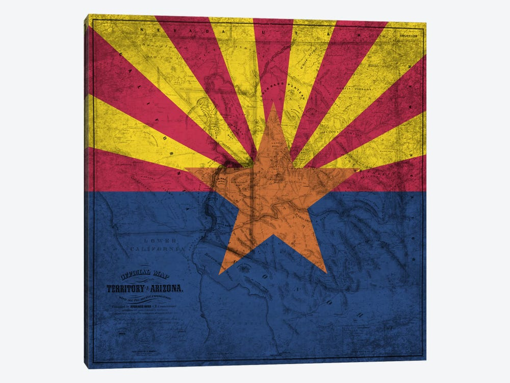 Arizona (Vintage Map) by iCanvas 1-piece Art Print