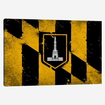 Baltimore, Maryland Fresh Paint City Flag Canvas Print #FLG558} by iCanvas Canvas Wall Art