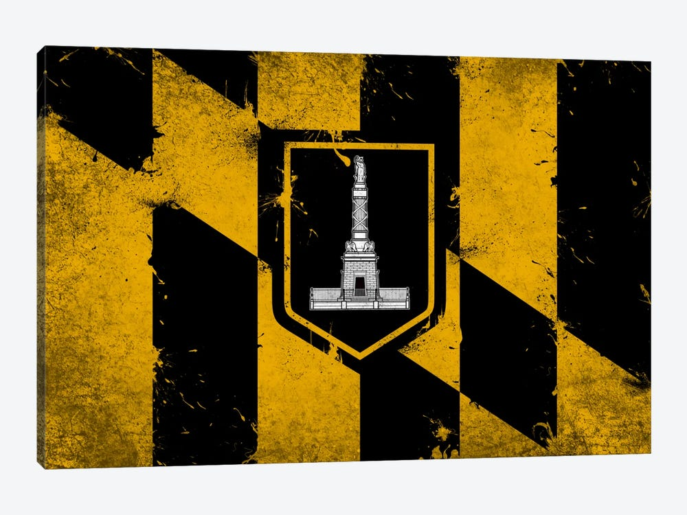 Baltimore, Maryland Fresh Paint City Flag by iCanvas 1-piece Art Print