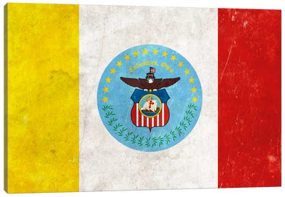 City Flag Grunge Series: Columbus, Ohio I Canvas Print #FLG56