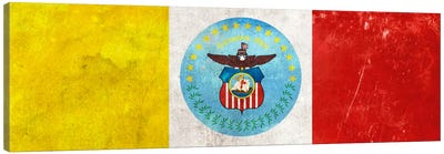 City Flag Grunge Series: Columbus, Ohio (Panoramic) Canvas Print #FLG57