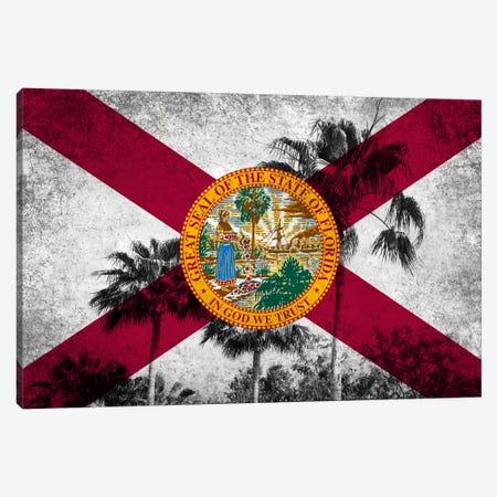 Forida FlagGrudge Palm Trees Canvas Print #FLG597} by iCanvas Canvas Art Print