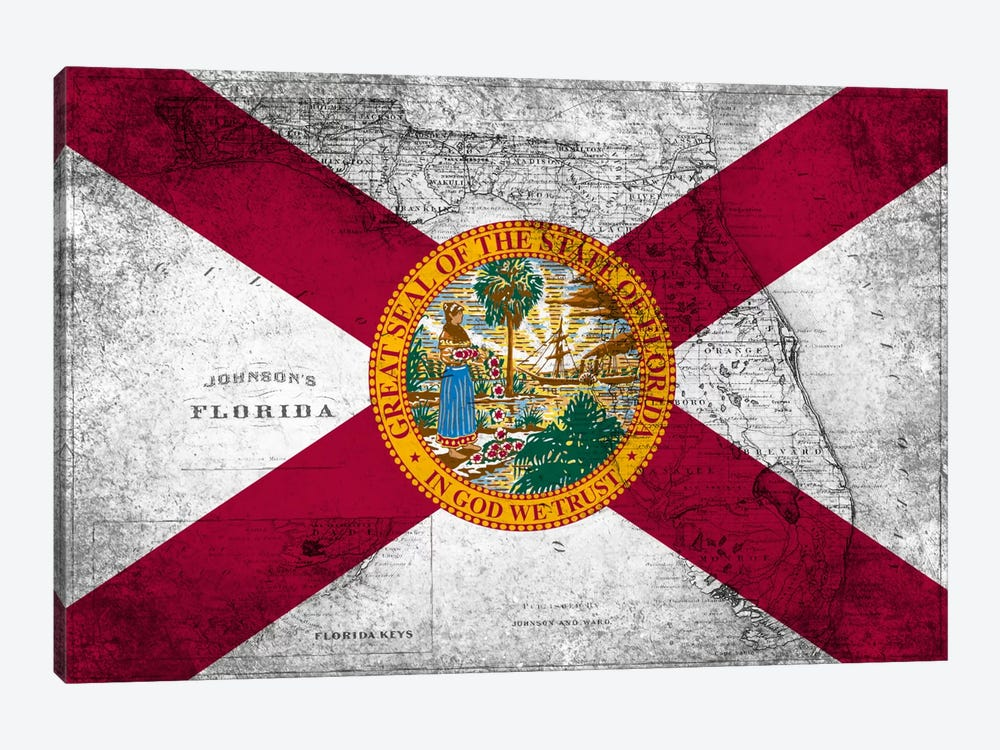 Florida (Vintage Map) by iCanvas 1-piece Art Print