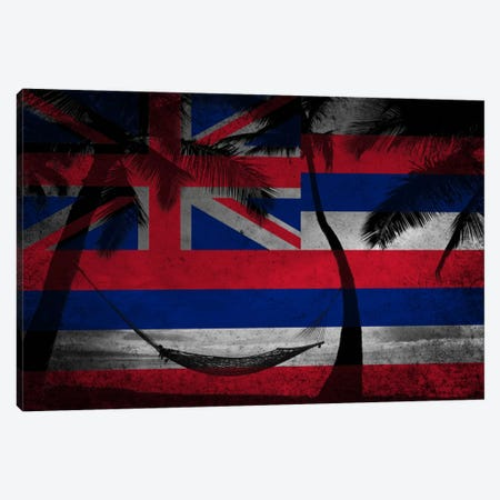 State Flag Overlay Series: Hawai'i (Beach Landscape) Canvas Print #FLG618} by iCanvas Canvas Print