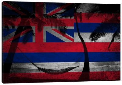 State Flag Overlay Series: Hawai'i (Beach Landscape) Canvas Print #FLG618
