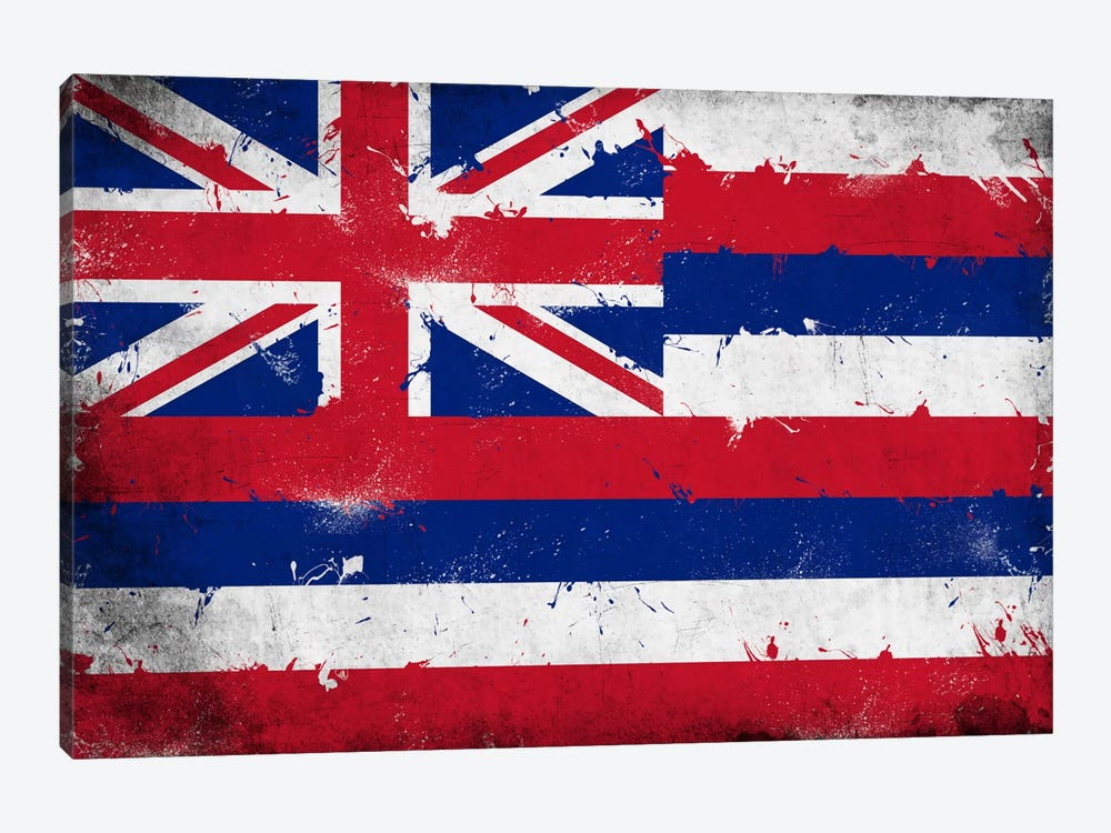 Hawaii FlagGrunge Painted by iCanvas 1-piece Canvas Art