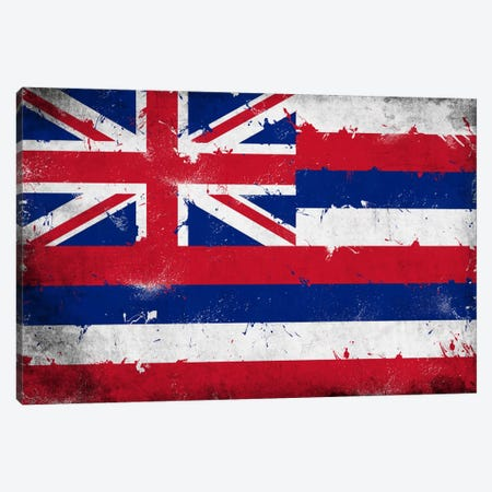 Hawaii FlagGrunge Painted Canvas Print #FLG622} by iCanvas Canvas Art