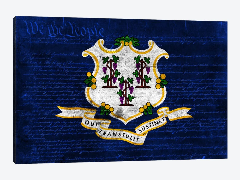 State Flag Overlay Series: Connecticut (U.S. Constitution) by iCanvas 1-piece Art Print