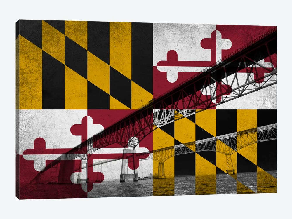 Maryland (Chesapeake Bay Bridge) by iCanvas 1-piece Art Print