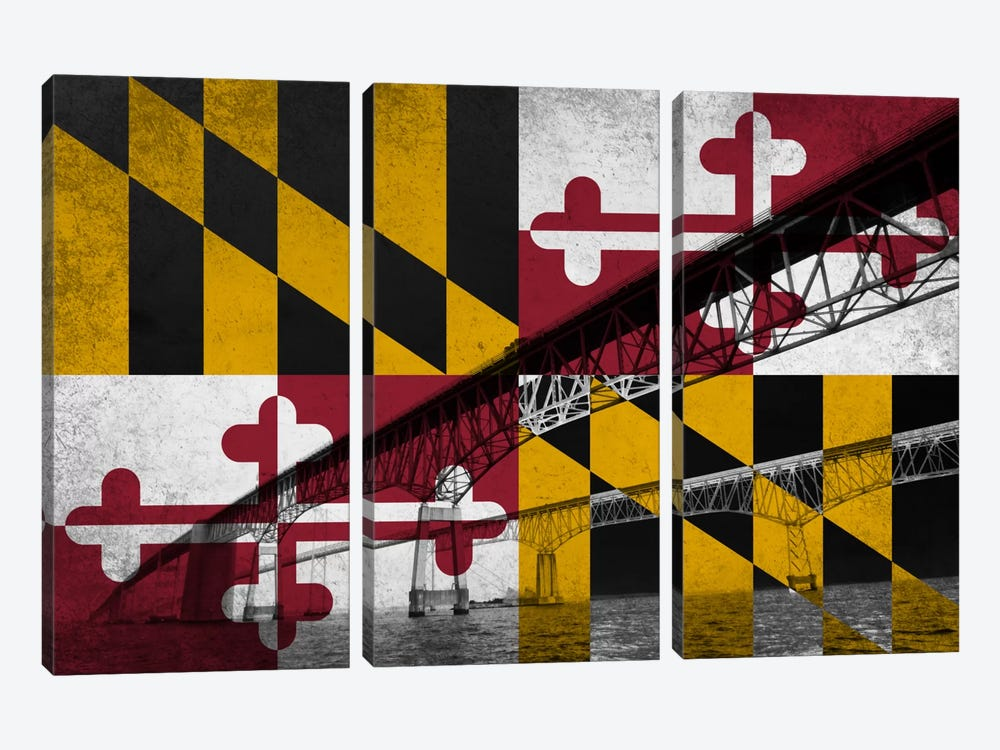 Maryland (Chesapeake Bay Bridge) by iCanvas 3-piece Art Print