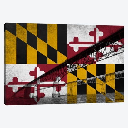 Maryland (Chesapeake Bay Bridge) Canvas Print #FLG643} by iCanvas Canvas Art