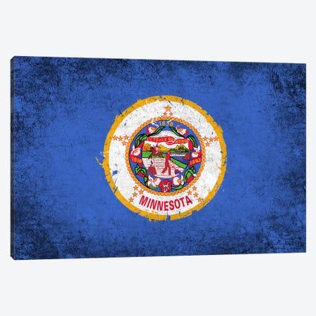 Minnesota FlagGrunge Painted Canvas Print #FLG666} by iCanvas Art Print