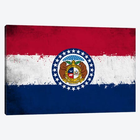 Missouri Fresh Paint State Flag Canvas Print #FLG671} by iCanvas Art Print