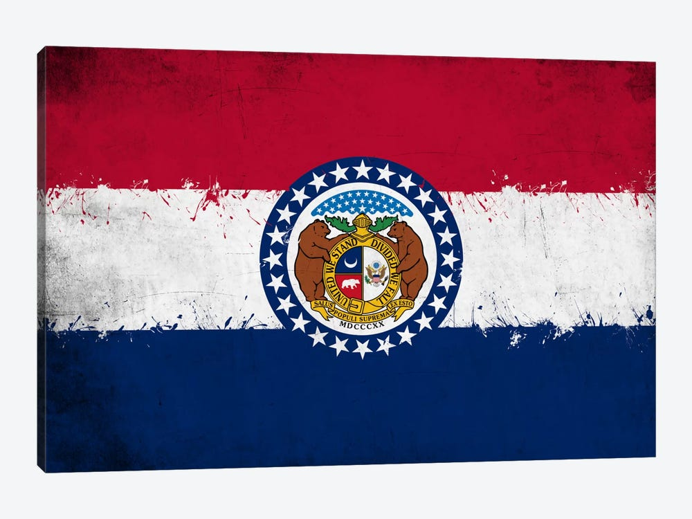 Missouri Fresh Paint State Flag by iCanvas 1-piece Canvas Art