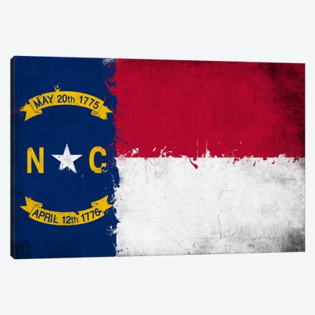 North Carolina Fresh Paint State Flag Canvas Print #FLG693} by iCanvas Canvas Print