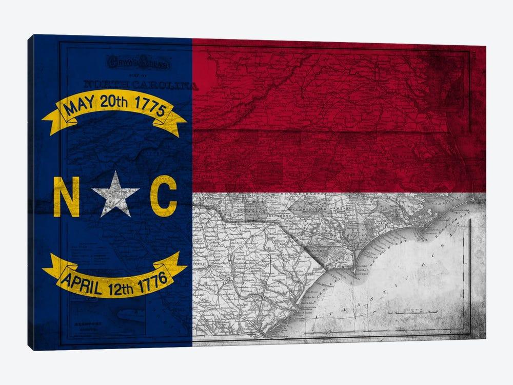North Carolina (Vintage Map) by iCanvas 1-piece Canvas Art Print