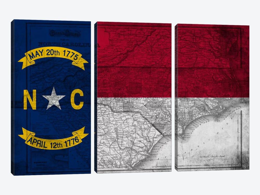 North Carolina (Vintage Map) by iCanvas 3-piece Canvas Print