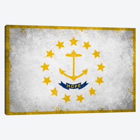 Rhode Island FlagGrunge Painted Canvas Print #FLG720} by iCanvas Art Print