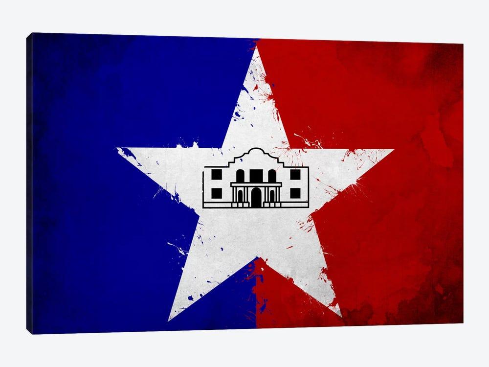 San Antonio, Texas Fresh Paint City Flag by iCanvas 1-piece Art Print