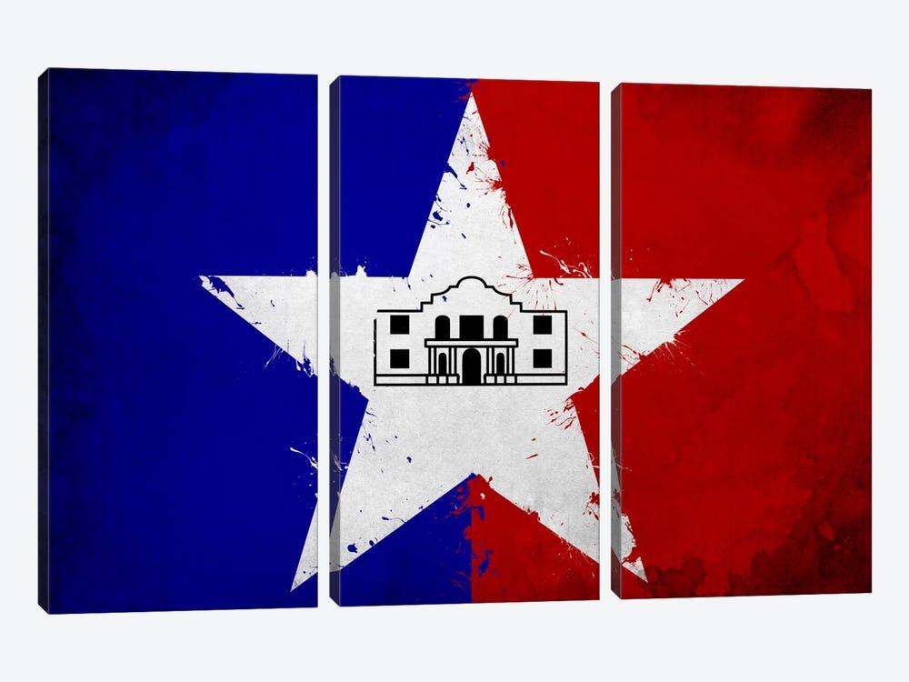 San Antonio, Texas Fresh Paint City Flag by iCanvas 3-piece Art Print