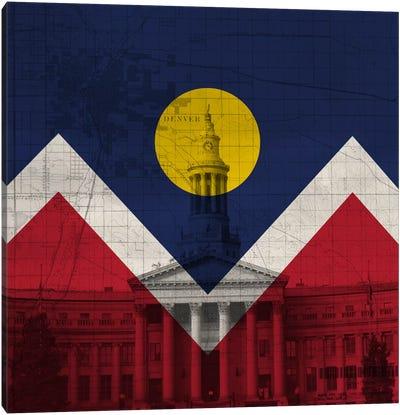 City Flag Overlay Series: Denver, Colorado (City Hall) Canvas Print #FLG72