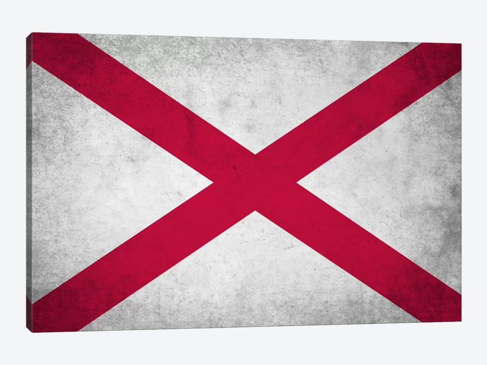 State Flag Grunge Series: Alabama by iCanvas 1-piece Canvas Art Print