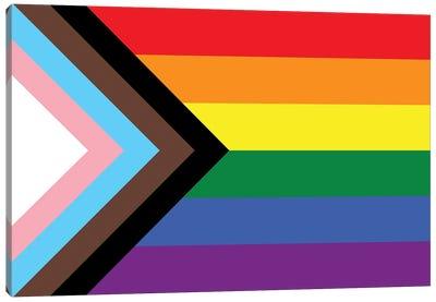 Progress Pride Flag Canvas Art Print