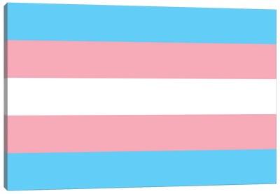 Transgender Pride Flag Canvas Art Print