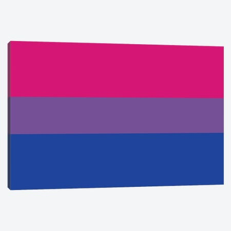 Bisexual Pride Flag 3-Piece Canvas #FLG757} by 5by5collective Canvas Print