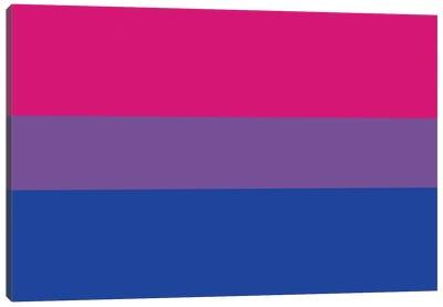 Bisexual Pride Flag Canvas Art Print